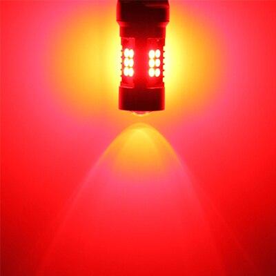 2x CANbus P21/5 Вт светодиодные автомобильные 1157 BAY15D прожекторные огни для peugeot 408 308 3008 RCZ Led DRL дневные ходовые огни - Испускаемый цвет: Красный