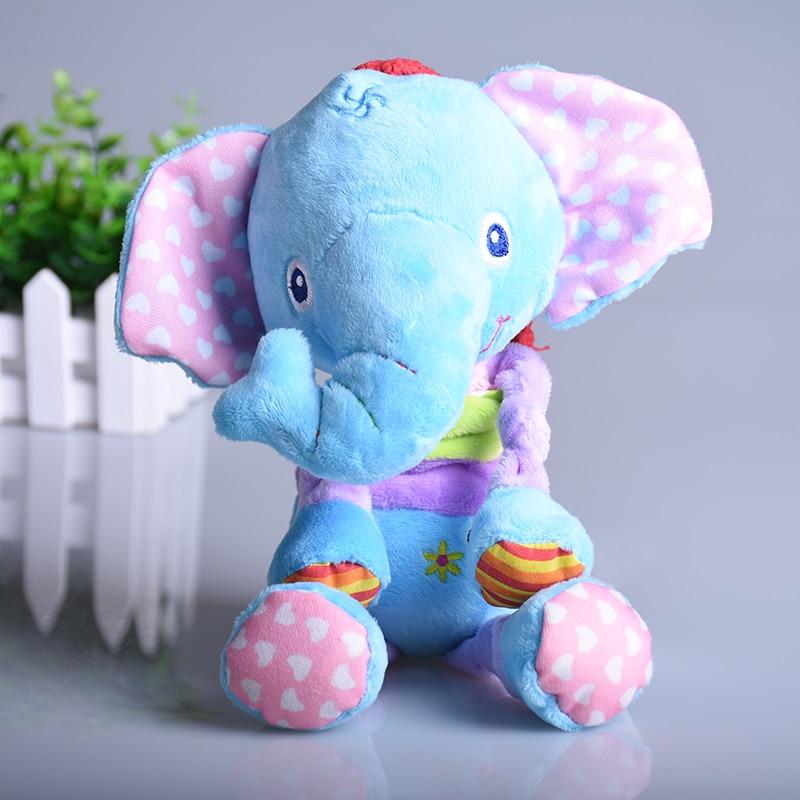 Plush toy animal elephant frog giraffe bed cart baby stroller hanging rattle 1pc
