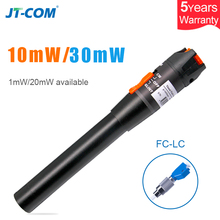 1mW/10mW/30mW Visual Fault Locator Laser Source Fiber Optic Cable Tester Red Light 1 SC/FC/ST/LC Adapter VFL Optical Fiber Pen measuring optical fiber network laser optical fiber line cable tester fiber optic visual fault locator test pen mt 7501 1mw