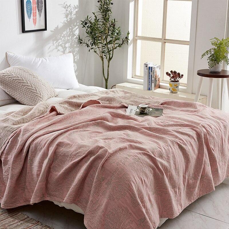 ZDFURS * doux confortable 100% coton mousseline couverture adulte enfants bambin été couette lit couverture Twin 150x200 cm complet 200x230 cm - 4