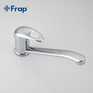 Image 4 - Frap один комплект латунный смеситель с одной ручкой для кухни с креплением на раковину Поворот на 360 градусов хромированная отделка F4903 F4904