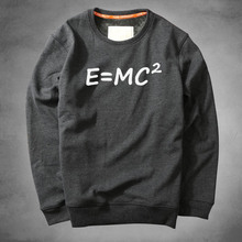 ZOGAA Mens sanitary sports casual pullover printed hoodie men E = MC2 The Big Bang Theory Albert Einstein great scientist