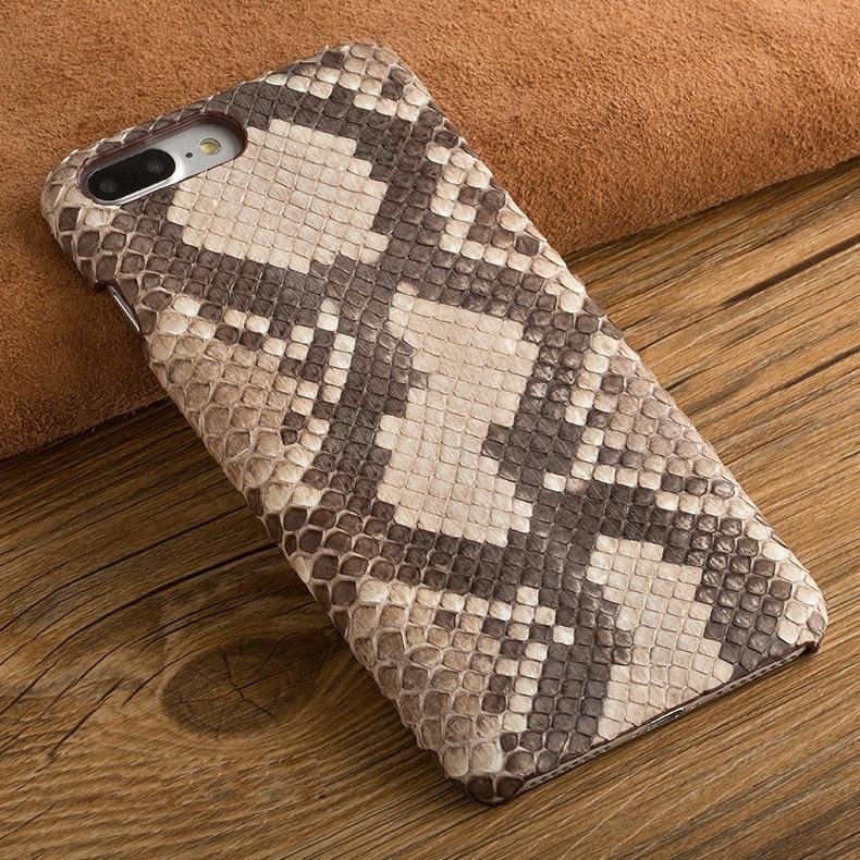 Python naturel Peau étui pour huawei Ascend P9/P9 Lite/P9 Plus Vrai Serpent En Cuir Véritable Couverture Arrière Sac de Téléphone portable