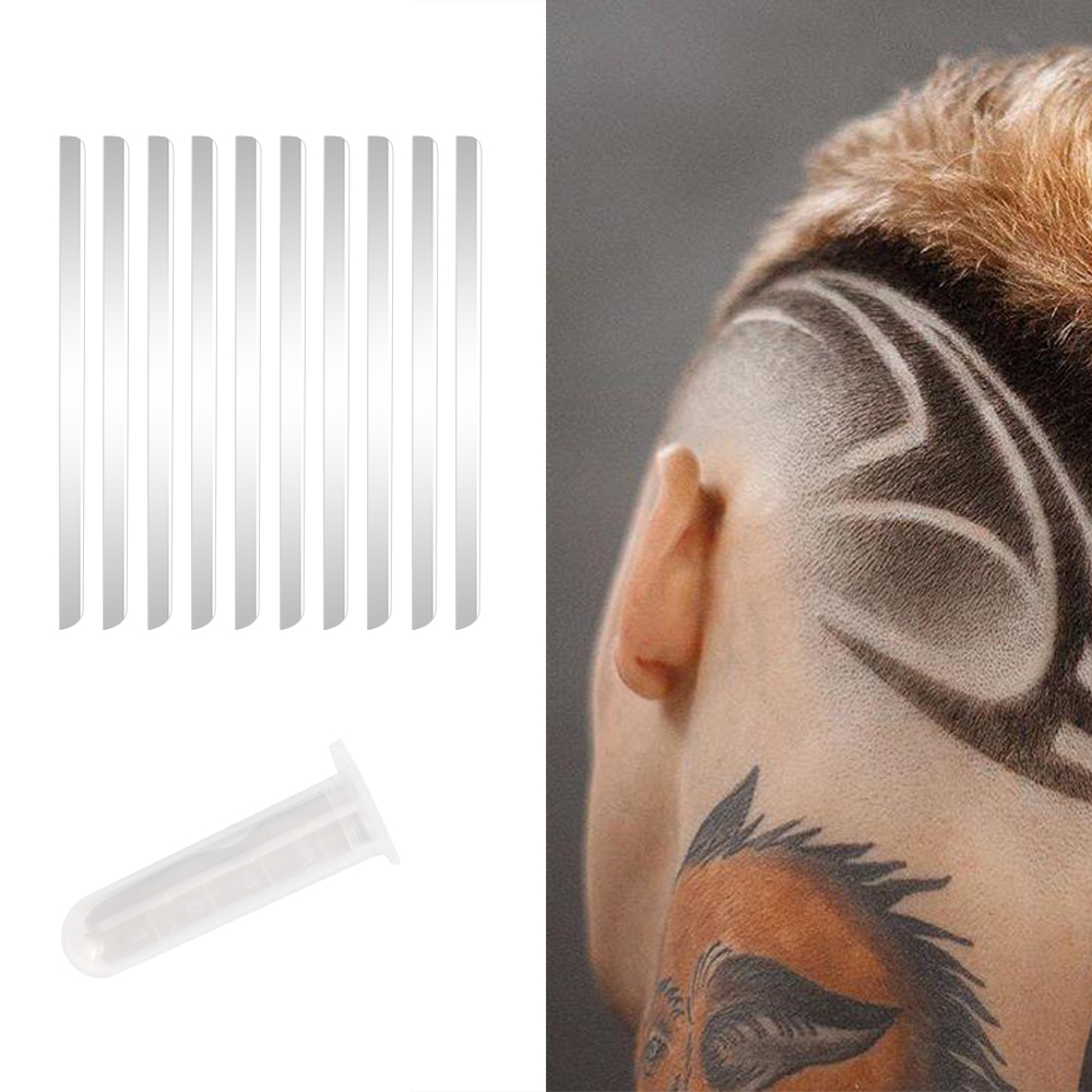 10Pcs Shaving Blades Hair Carving Pen Magic Hair Styling Eyebrows Beards Razor Salon DIY Engraved Razor Pen Accessories