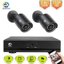 CCTV Камера безопасности Системы 4CH цифровой видеорегистратор, система CCTV 2CH 1,0 Мп ИК обеспечение безопасности в помещении наружное Камера Kit 720 P HDMI система видеонаблюдения TVI система DVR
