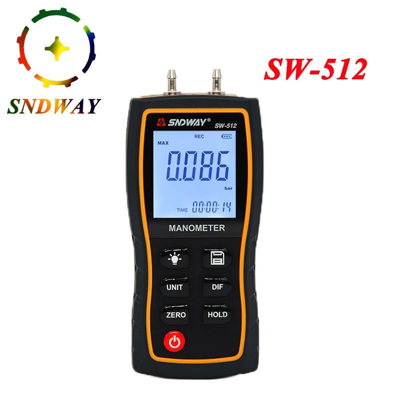 Digital Manometer Air Pressure gauge 11 Unit Vacuum Pressure Gauges differential natural gas pressure gauge meter