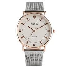 cf4bc1b153a9 KEVIN Simple de las mujeres de la moda de cuarzo reloj de pulsera de diseño  de
