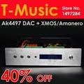 40% de DESCUENTO! ALTO Acabado AK4497 + AK4118 XMOS DAC Decoder Apoyo USB/I2S Amanero-32Bit/384 K DSD DOP/Beyond ES9018 DAC