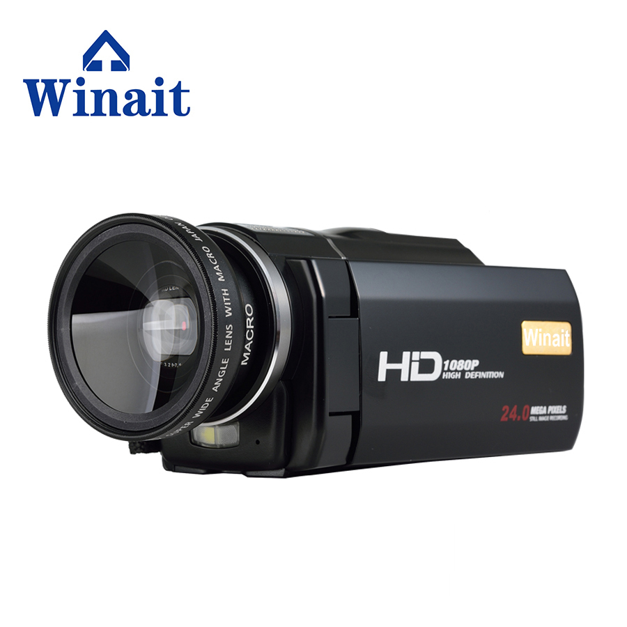 Winait 2017 hot sale HDV-F5 digital video camera with 3.0'' touch display 16x digital zoom remoter control Built-in Microphone winait electronic image stabilization hdv z8 digital video camera with recording function touch screen