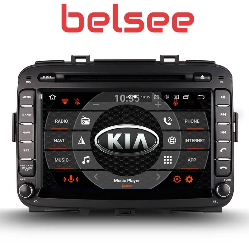 Belsee 8 pouce Écran Tactile Radio Android 8.0 Tête Unité Octa Core PX5 GPS Voiture Lecteur DVD Navi Kia Carens 2013 2014 2015 2016 2017