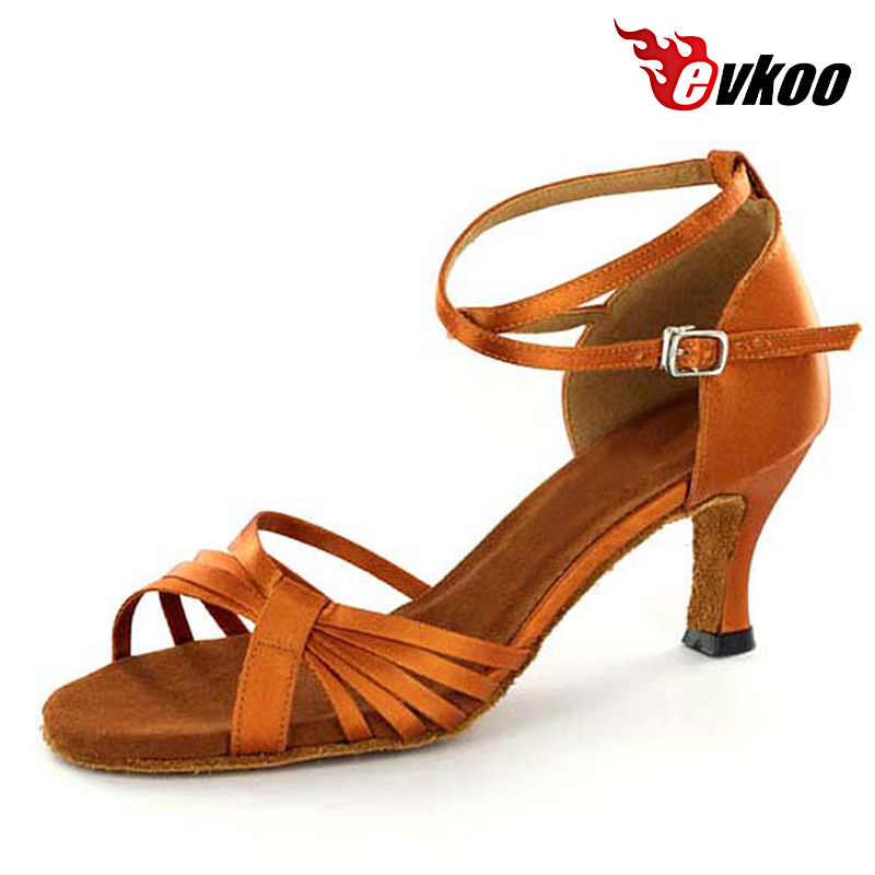 5537468f9febc Evkoodance Marque Femme Latine Salsa Danse Chaussures 7 cm Talon Main Usine  Bas Prix Chaussures Evkoo-271