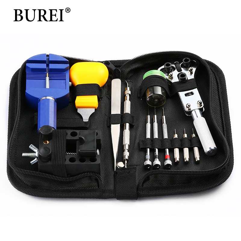 2017 Hot Sale Herramientas De Relojero Watch Tools BUREI Portable 13-in-1 Timepieces Watch Repair Tool Link Romover Kit Set Diy watch link removal kit adjuster repair tool set with 5 pins