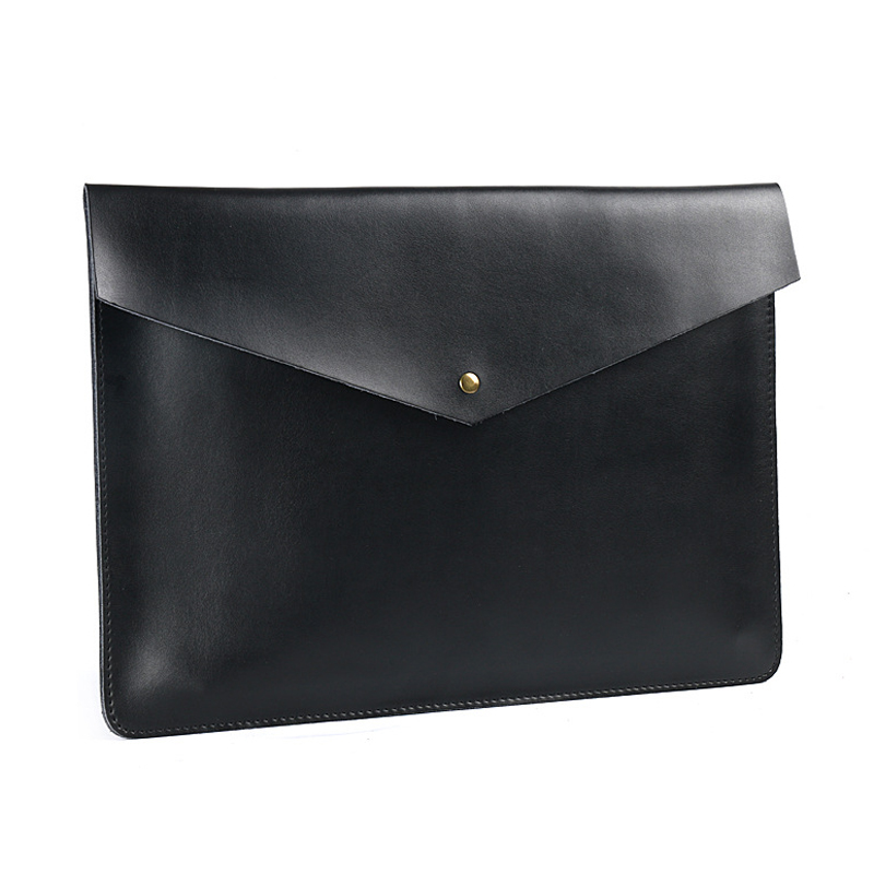 Image 3 - A4 Document Holder Nature Leather File Folder for Documents Bag Case With Buckle Paper Storage Office School Filing Supplies-in File Folder from Office & School Supplies