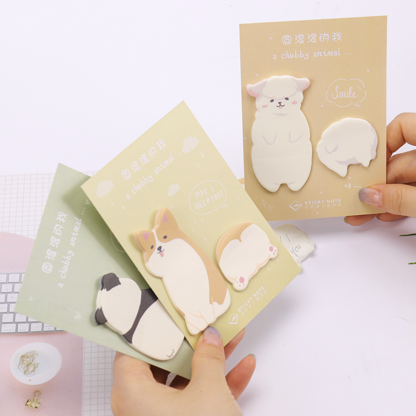 Cartoon Chubby Animal Memo Pad Kawaii Stationery Office Supplies Diy School Scrapbooking Sticky Notes Planner Stationery