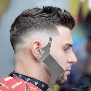 Image 4 - כל ב אחד נירוסטה בירד עיצוב וסטיילינג מסרק תבנית כלי 100% פרימיום באיכות סטנסיל עבור גברים של זקן גילוח