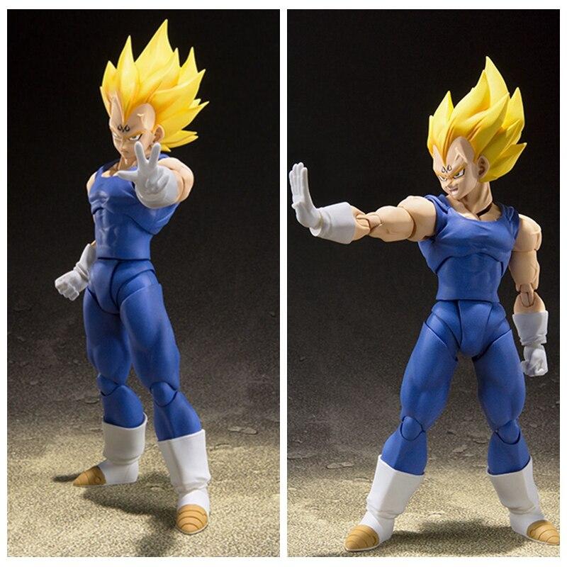 Dragon Ball Z Super Saiyan Majin Vegeta And Trunks Ssj Action Figure Toy Doll Brinquedos Figurals Collection Dbz Model Gift Toys & Hobbies