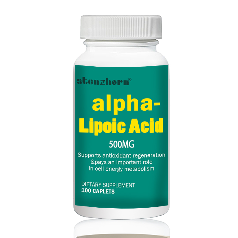 Alpha Lipoic Acid 500mg 100pcs universal antioxidant saw palmetto berries 500mg 100pcs x 3 bottles total 300pcs supports healthy prostate function