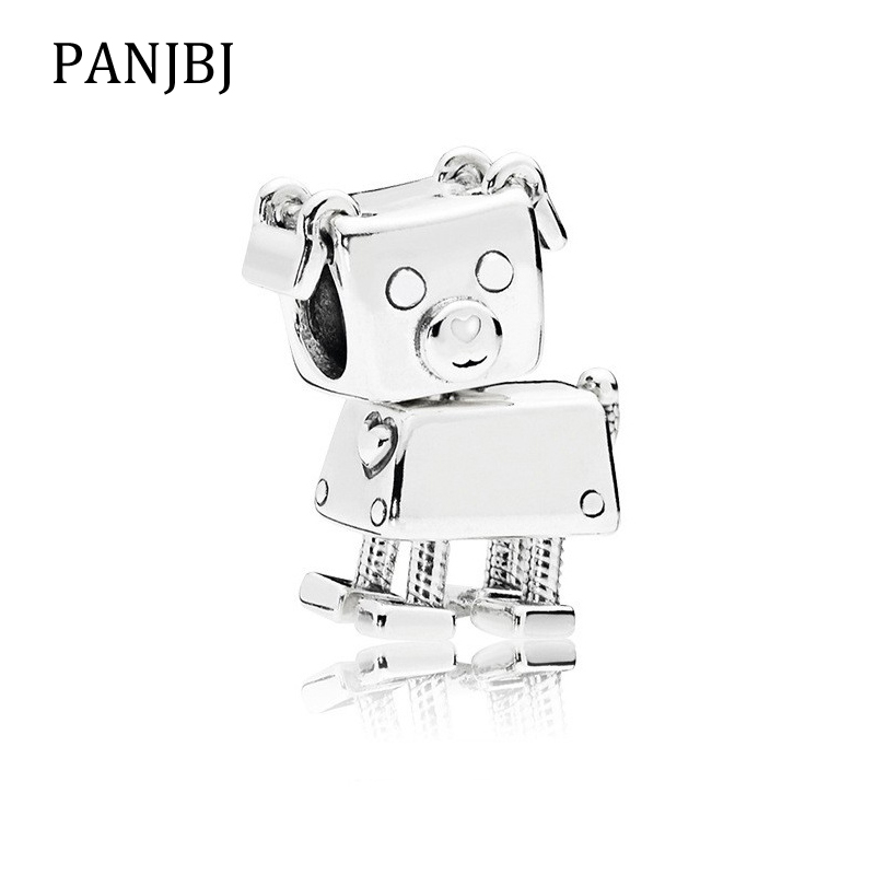 Jewelry & Accessories Beads New Original 100% 925 Sterling Silver Bead Charm Robot Dog Charms Love Pet Fit Pandora Bracelets Women Diy Jewelry Making