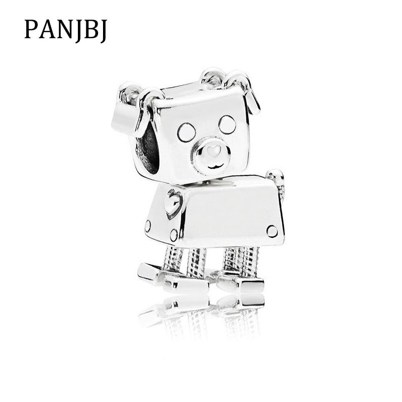 New Original 100% 925 Sterling Silver Bead Charm Robot Dog Charms Love Pet Fit Pandora Bracelets Women Diy Jewelry Making Jewelry & Accessories