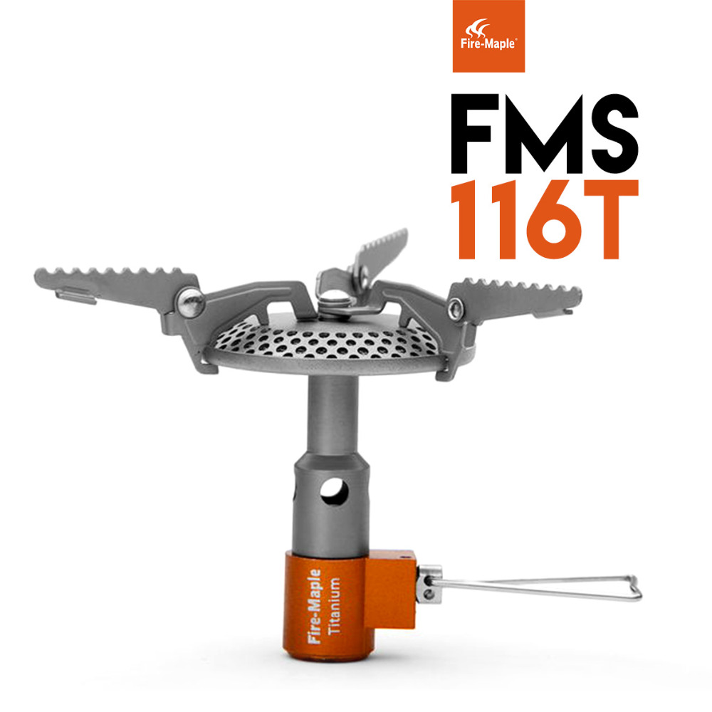 Feu érable FMS-116T une pièce cuisinière à gaz pliante titane camping cuisinière à gaz cuisinière à gaz extérieure portable cuisinière pliante