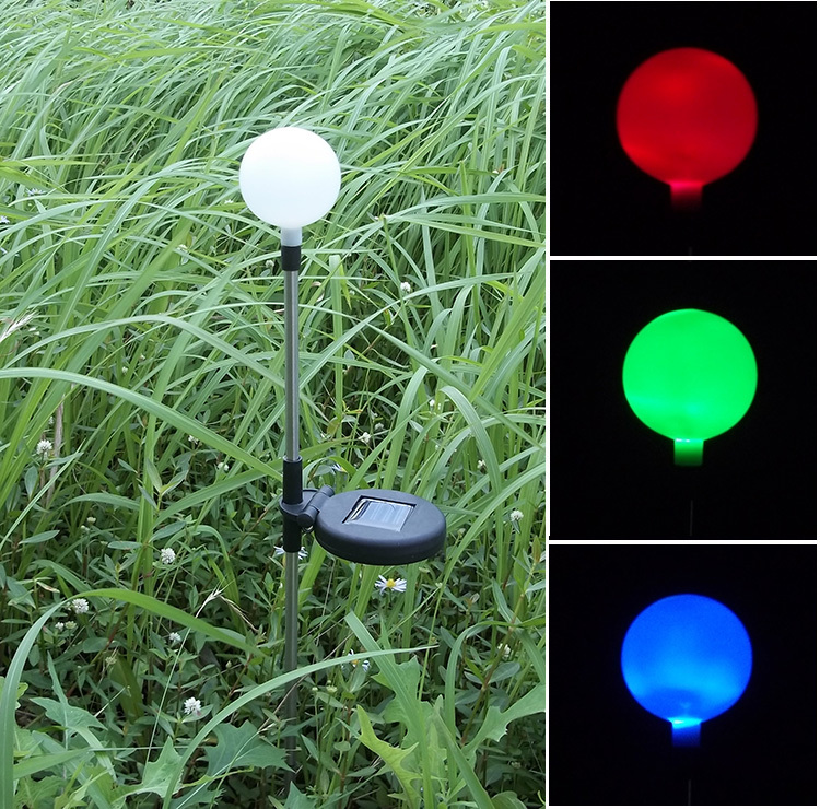 Free Shipping Colour Changing Solar Ball Lawn Lights Led Decoration Solar Garden Light In Solar