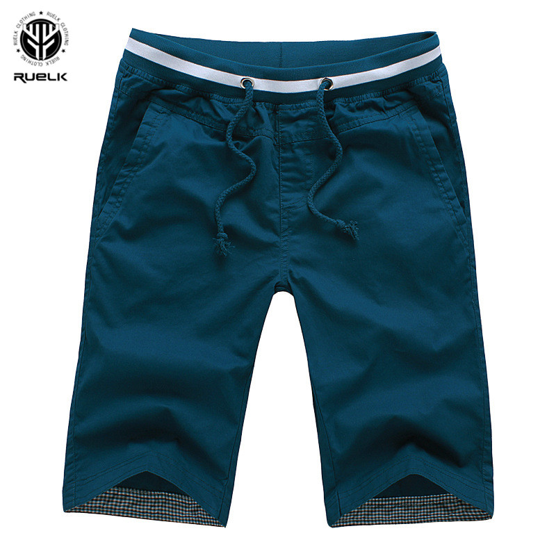 RUELK Slim Fit Casual   Shorts   Mens Fashion Brand Summer Men   Shorts   Fitness Plus Size Beach   Shorts   Fashion Bermuda   Shorts   For Male