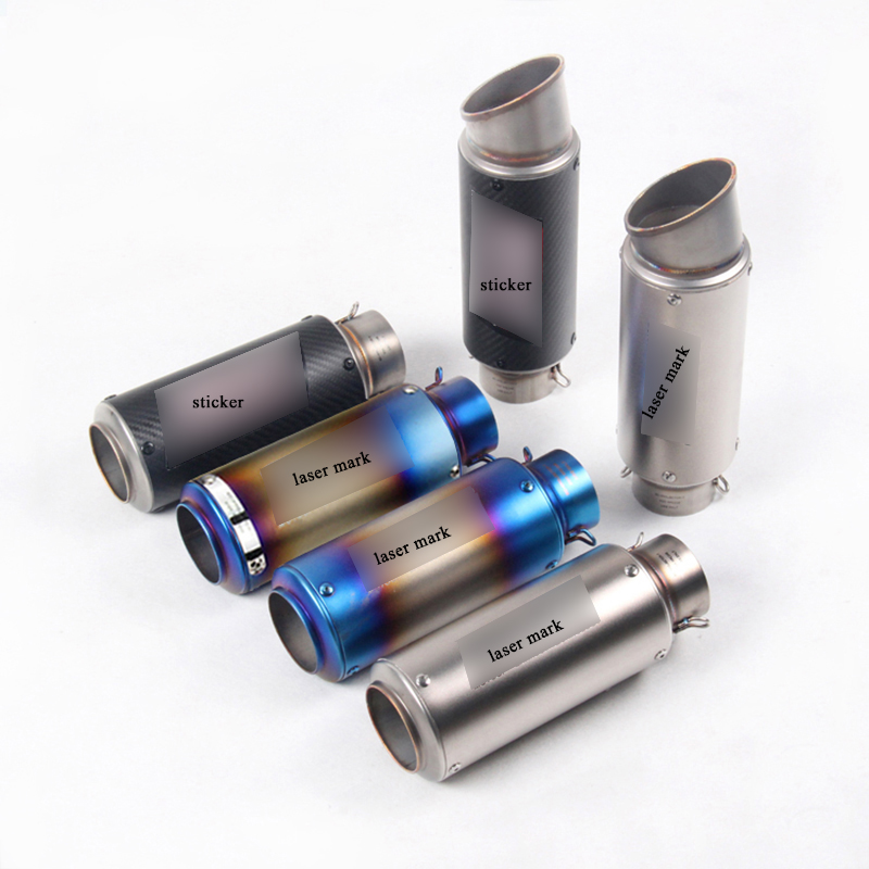 38-60.5mm Universal Short Exhaust Muffler Tip Pipe With DB Killer Silp On 245-300mm Motorcycle Silencer Exhaust System