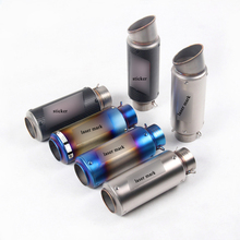 38-60.5mm Universal Short Exhaust Muffler Tip Pipe With DB Killer Silp On 245-300mm Motorcycle Silencer System