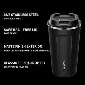Image 4 - Tazas de café con tapa termo de acero inoxidable, botella de agua térmica aislada, taza de cerveza, termo de café, 2018