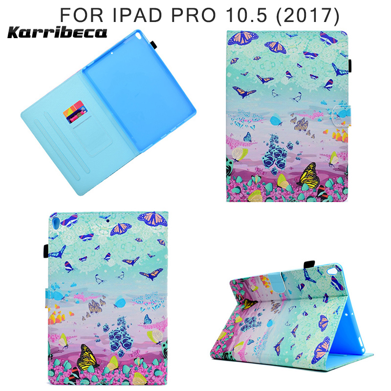 Cartoon horse flamingo Magnet PU leather case for iPad Pro 10.5 (2017) tablet cover hoesje coque kryt etui funda puzdra kilifi cartoon cute chicken leather magnet