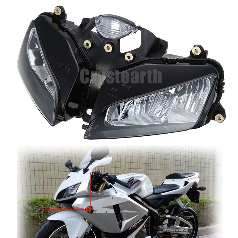 Motorcycle Front Headlight Head Light Headlamp Housing Assembly Kit For Honda CBR600RR CBR 600 RR 2003 2004 2005 2006 motorcycle accessories front foot rests pedal bracket assembly kit for honda cbr600rr f5 2003 2004 2005 2006 cbr600