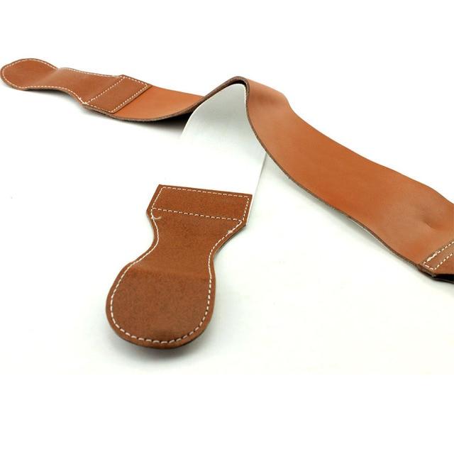 Cuero genuino + Canvas Doble Filo Navaja de Afeitar manual de Afeitar Strop Molienda Cuchillo Plegable de Tela Navalha De Barbeiro