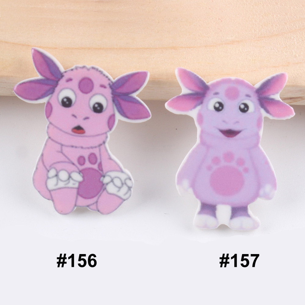50pcs Mixed Two Designs Cartoon Cow Flatback Resin Kawaii Sit Stand Cow Resin Cabochon DIY Craft For Home Decoration Accessories