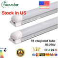 Stock in US+CE RoHS FCC UL 22W T8 Led tube Lamp 1200mm AC110V SMD 2835 Integrated LED light lamp Led tubes 2 years warranty