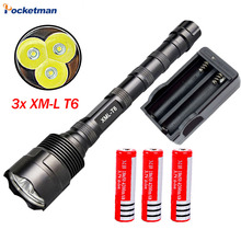 9000Lumen LED Flashlight CREE 3T6 Power 5 Mode Torch Lamp Light Led Light For Camping Hunting Fishing Waterproof Tactical Torche