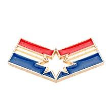 New Design Avengers 3 Marvel Comics Jewelry Carol Danvers Captain Marvel Brooch Superhero Ms Marvel Logo Brooch Pin Cosplay Gift толстовка marvel comics