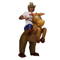 Inflatable Cowboy Costume Christmas Horse Costume For Man