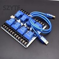 8 30A Power Relay Module Usb Serial Control Device To Control The Power Centralized Intelligent Management