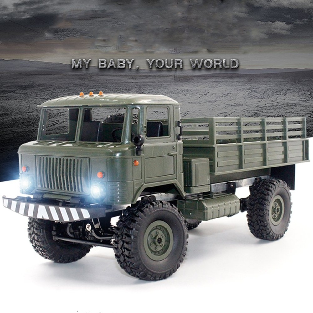 RC B-24 1/16 RC Military Truck Rock Crawler Army Car Kit Vehicle with Motor & Servo Automatic Vehicle Toys for Children GiftRC B-24 1/16 RC Military Truck Rock Crawler Army Car Kit Vehicle with Motor & Servo Automatic Vehicle Toys for Children Gift