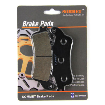 SOMMET Motorcycle Front Brake Pads Disc 1 pair for Honda NSS 250 Forza / Jazz / Reflex (2000-2004) NSS250 LT261 image