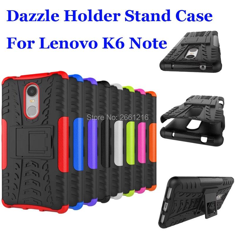 Pour Lenovo K6 Note Dazzle Antichoc En Silicone Souple Et Dur Plastique Double Armor Retour Case Couverture De Support Stand 55