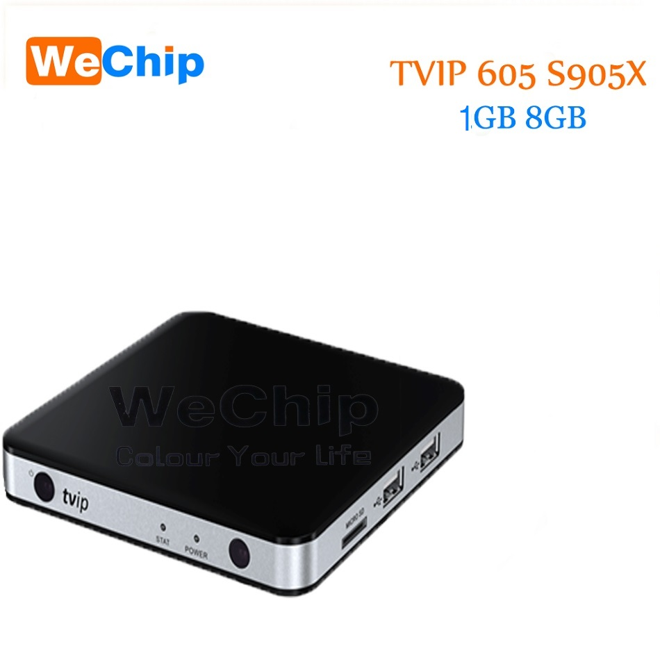 10pcs TVIP 605 Box Amlogic Quad Core 1GB Android 6.0/Linux Dual OS Smart TV Box Support H.265 Airplay DLNA 5pcs android tv box tvip 410 412 box amlogic quad core 4gb android linux dual os smart tv box support h 265 airplay dlna 250 254