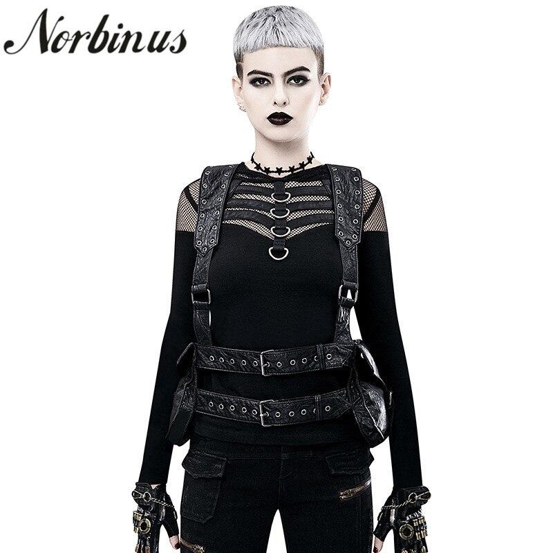 Norbinus Steampunk sac à dos pour femme gothique sacs à bandoulière taille Moto sac à dos Moto & Biker PU sacs à dos en cuir pour femme