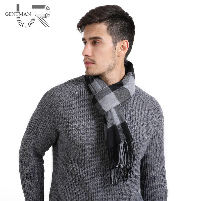 Newest Plaid Scarf Men And Women Fashion Acrylic Scarf Warm Autumn Winter Scarf Classical Long 30cm*190cm Soft Scarves For Men