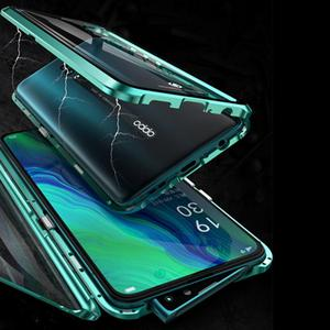 Image 5 - Luxury Magnetic Metal Bumper Case For OPPO Reno F11 V15 Pro R17 Cover Double Sided Glass Full Body Case For OPPO Reno 10X Zoom
