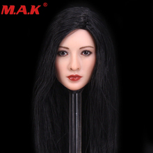 1/6 scale Asian female gir woman young lady head sculpt with black long hair models toys for 12 female action figure 1 6 asian star women black short hair head sculpt model for 12 inches female action figure body