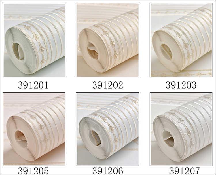 Noenname_nuil simples luxo estilo europeu papel de parede casa decoração listrado damasco 3d rolos para o quarto sala estar