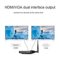 NEW 2.4G +5G with screen device for wireless HDMI +VGA screen push treasure airplay video for TV transmitter ios android
