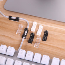 20pcs Cable Winder Clip Adhesive Charger Clasp Desk Wire Cord Earphone Telephone Line Tie Fixer Organizer Car Wall Clamp Holder(China)