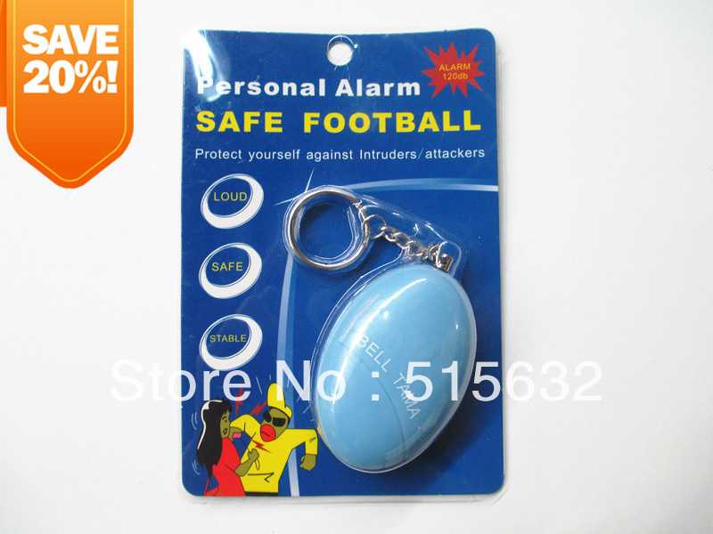loud Personal Alarm safe football  Panic Alarm - Anti -Rape Anti-Attack Safety - Personal Security 2016 2pcs a lot self defense supplies alarm personal key ring protection alarm alert attack panic safety security rape alarm